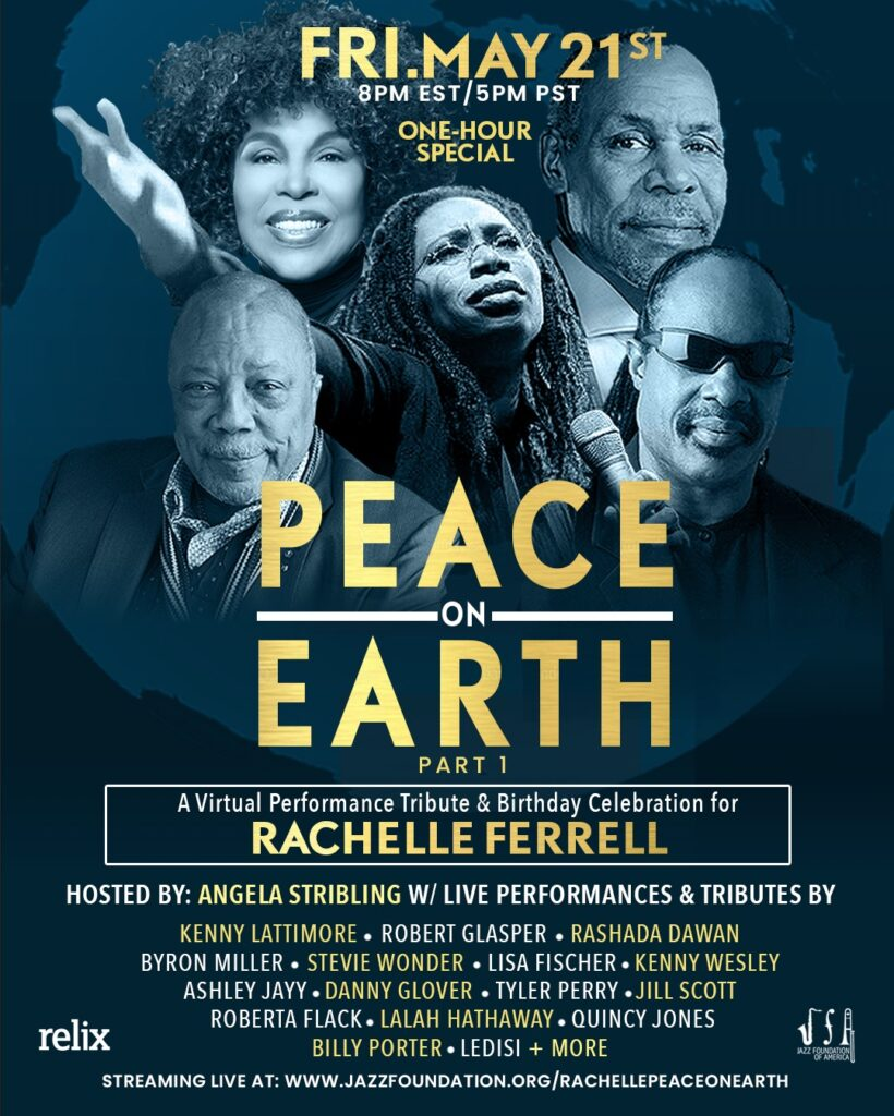 A Virtual Performance Tribute and Celebration Birthday Benefit for Rachelle Ferrell and the Jazz Foundation of America