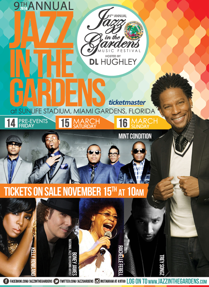 Jazz In The Gardens 2014 - Click For More Info & To Purchase Tickets